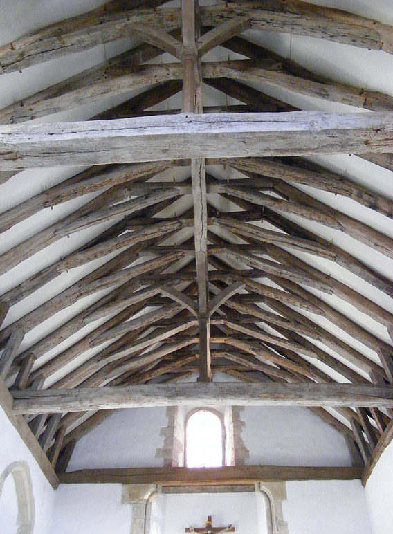 Roof timbers as they are today