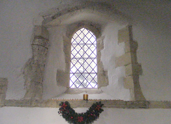 One of the four windows