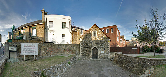 Wide angled view of Chapel and the surrounding area