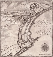 16th century map of Dover